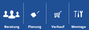 Beratung, Planung, Verkauf, Montage >