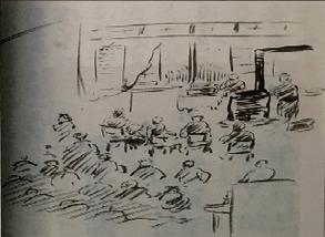 大正15年当時の演奏会の様子