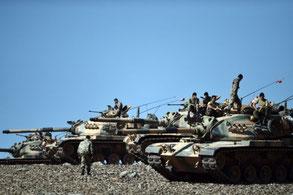 Tyrkisk militær forholder sig passivt ...