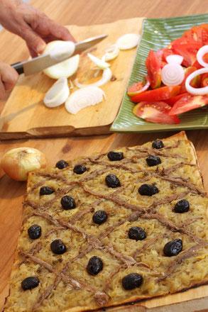 recette tarte anchois et oignons doux de citou pays cathare