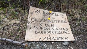 Protest gegen des Naturreservat im Änok