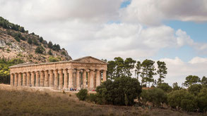 Segesta, Tempel, archäologischer Park, Sizilien