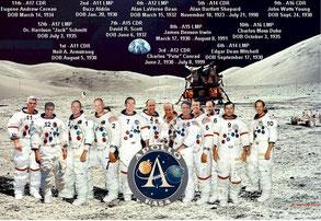Les 12 astronautes - Cliquer pour agrandir