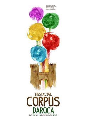 Programa de las Fiestas del Corpus en Daroca, el milagro de los Corporales