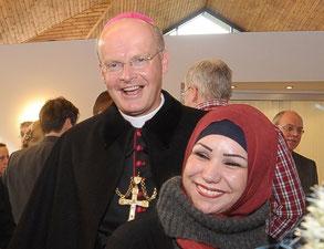 Ein gut gelaunter Bischof bei der Einweihung (RP-Foto: Andreas Probst)