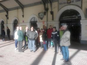 En la estación del tren