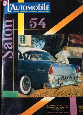 Simca Vedette Versailles sur page de couverture de l'automobile