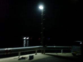 夜釣りの写真