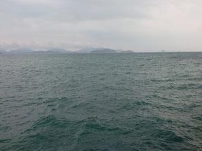 風が強い釣り場の写真