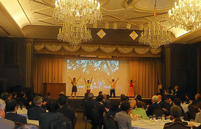 At the report meeting of OISCA Miyagi branch, Goodwill Ambassadors made a report for about 100 participants. They entertained the participants by showing off their dances.