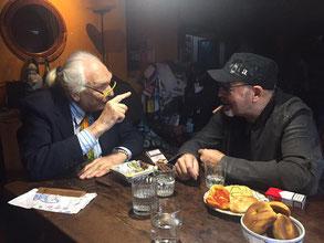 Lo scorso 20 aprile durante una visita di Vasco Rossi a casa di Marco Pannella,un iddillio tra i due che dura dal 1985