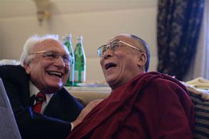 Marco Pannella insieme al Dalai Lama