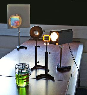 Montage optique projection image film de savon