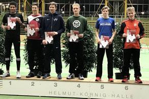 Platz 6 im Hürdensprint bei den Westfälischen Hallenmeisterschaften: Jonathan Schröder.