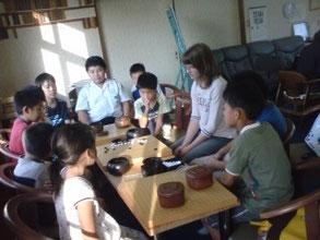 生徒さんたちと囲碁交流