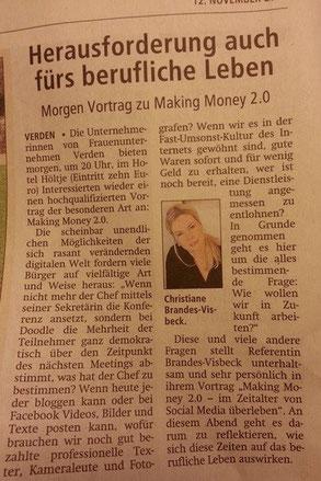 Kreiszeitung Verden vom 12.11.2014