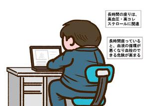 座りすぎの健康被害