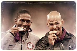 tasting an olympic medal