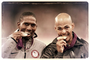tasting an olympic medal