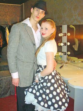 Сергей со своей многолетней парнершей Мариной Голосовой на концерте группы «Браво» в 2011 году