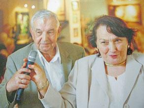 Виктор Ефимович с супругой Марией Николаевной. 2005 г.