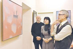 На выставке Николая Романова в выставочных залах Союза художников