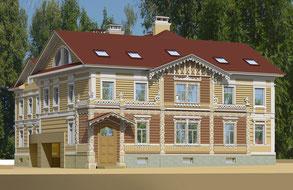 Проект воссоздания Дома И. Монигетти на Церковной ул., 7А. Авт. А. Михалычев