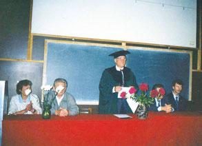 На встрече выпускников по случаю 75-летия факультета электрификации СПбГАУ. 1997 г.