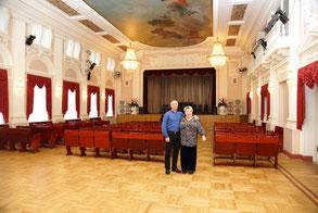 В. М. Халилов с Т. П. Сизовой в Пушкинском доме культуры. 2014 г.