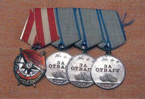 Боевые награды Василия Савичева