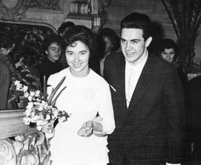 Владимир и Галина Скуратовы во Дворце бракосочетаний на наб. Красного флота. 1962 г.