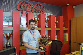 Александр Майер с одним из последних трофеев предприятия