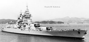 Линкор «Ришелье», на котором летом 1940 г. был вывезен золотой запас Франции
