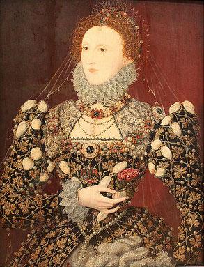 Königin Elisabeth I in prachtvoller Kleidung (flickr, Foto von mware2012) - Tudor Elisabethianische Mode