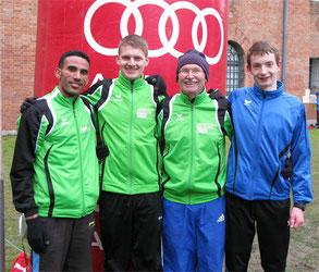 vl: Yossief, Felix, Franz und Thomas