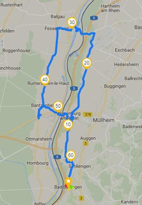 Il percorso rilevato col GPS
