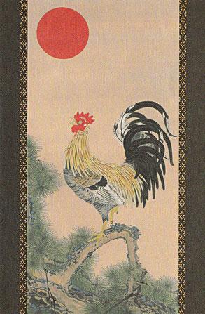 模写・伊藤若冲「旭日雄鶏図」より  2007年制作