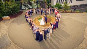 Hochzeitsfotograf Saarlouis - Reportage Luftbild