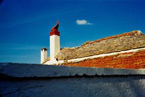 ein zweiteiliges Trulli-Dach