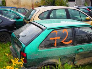 Motiv auf einem Auto-Verkaufsplatz