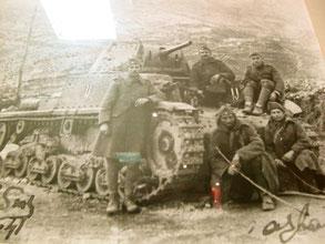 der erste Panzer auf griechischen Boden