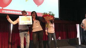 Sandra wint €1250,- voor Dieren4u