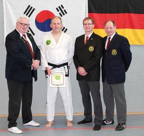 Rolf Harder, Stefan Isfording, Henning Schöder und Thomas Schaepers (v.l.n.r)