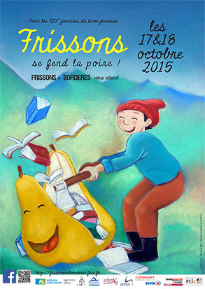 affiche salon frisson Bordères 2015 - blog marie fananas écrivain