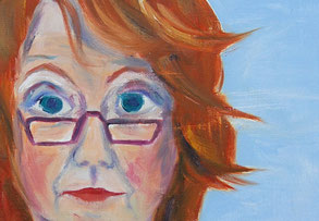Bild: Sebstportrait (Öl auf Leinwand)
