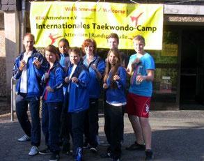 Die Lehrgangsteilnehmer des diesjährigen Taekwondo Camp in Attendorn