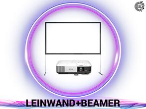 DJ, Eventtechnik, Ton, Video und Licht verleih.  Leinwand mit Beamer buchen.