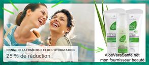 Jusqu'au  2019, profitez d'une offre promotionnelle spéciale Pâques pour la gamme Aloe Vera de LR.   Une économie de 20% ou plus sur une sélection de soins à l'Aloe Vera et les boissons Aloe Vera Santé Beauté LR