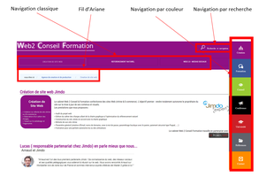 Web2-conseil-formation.com - navigation