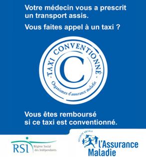 Taxi conventionné transport sanitaire, prise en charge sécurité sociale et mutuelles, agrément CPAM, remboursé sur prescription médicale